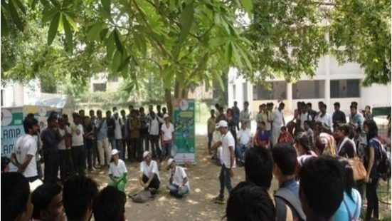 Nukkad Nattak & E Rikshaw activity at B. S. College