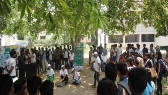 Nukkad Nattak & E Rikshaw activity at B. S. College